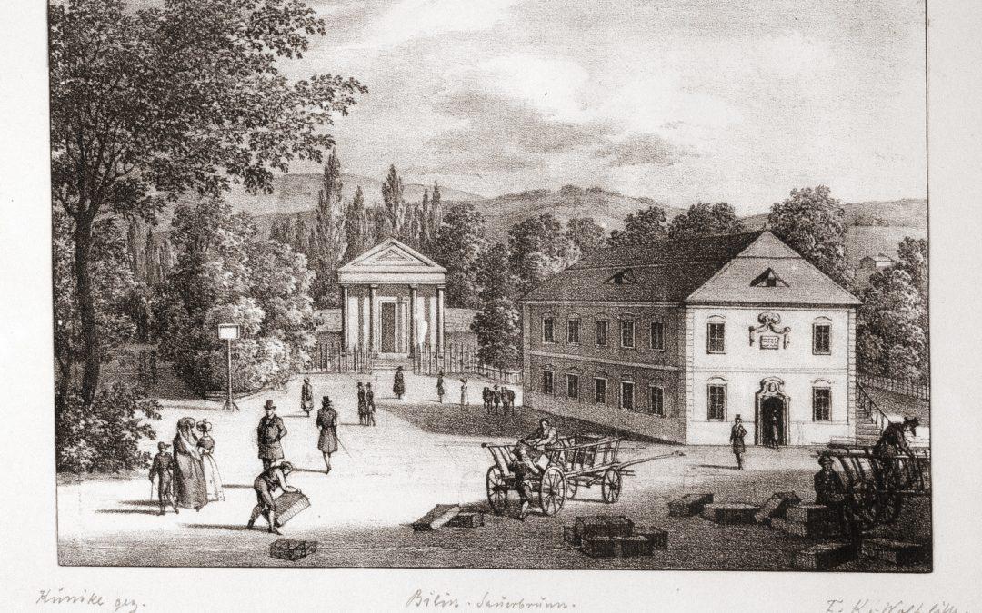 1800 První budova stáčení na Bílinské kyselce