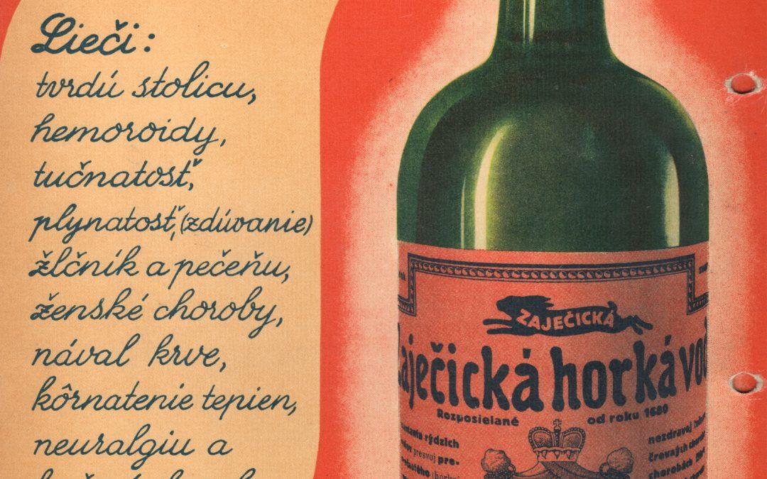 Plakát Zaječická hořká slovensky 1930