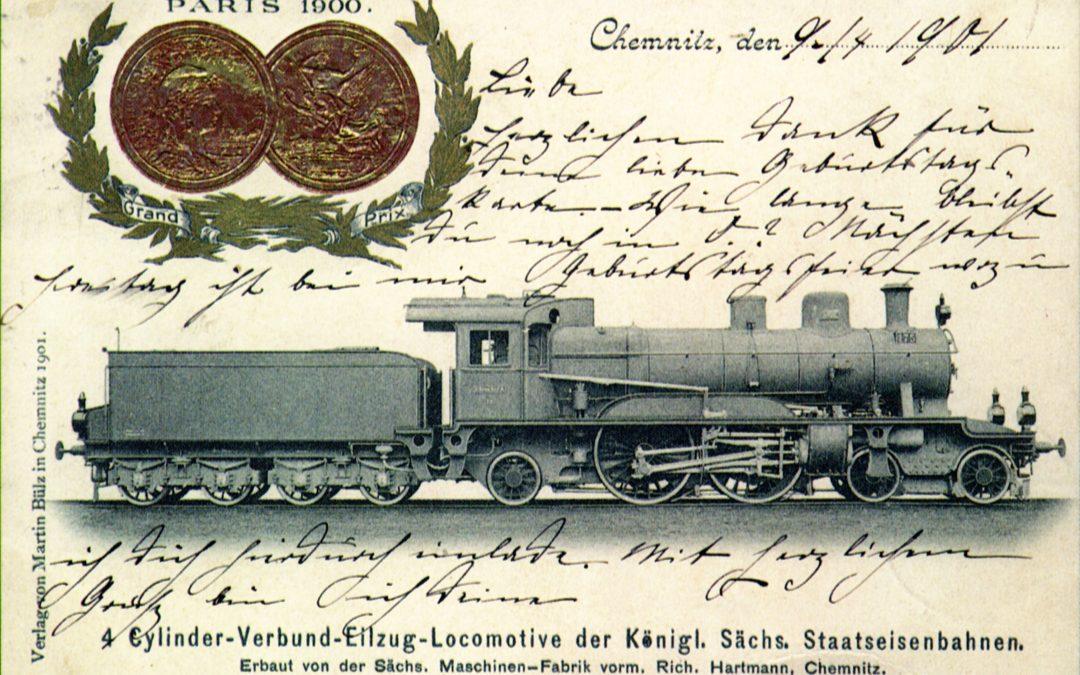Jedna z klasických lokomotiv Pražsko-duchcovské dráhy