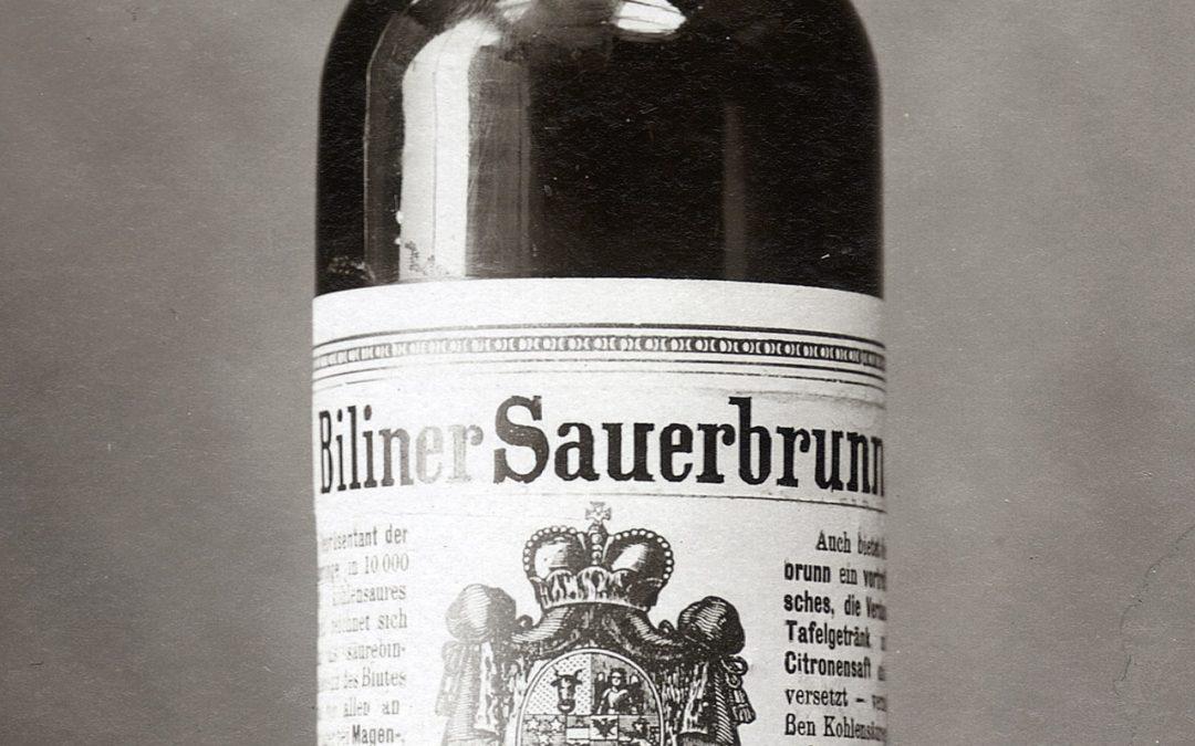 Biliner Sauerbrunn foto láhve 1899