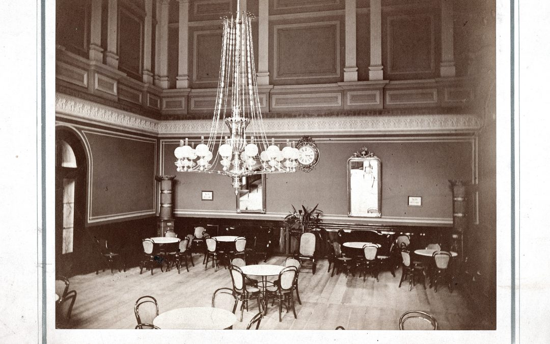 Interiér restaurace Lázně Bílina 1879