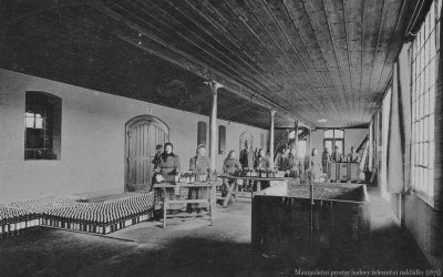 Manipulační prostor železniční nakládky 1871